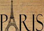 نگارش کلمه پاریس با استفاده از شکل برج ایفل