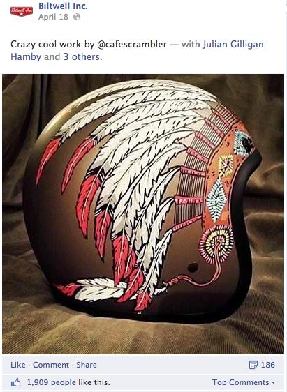 نمونهای از یک از کلاه که توسط یکی از شرکتکنندگان برای این کمپین طراحی شد