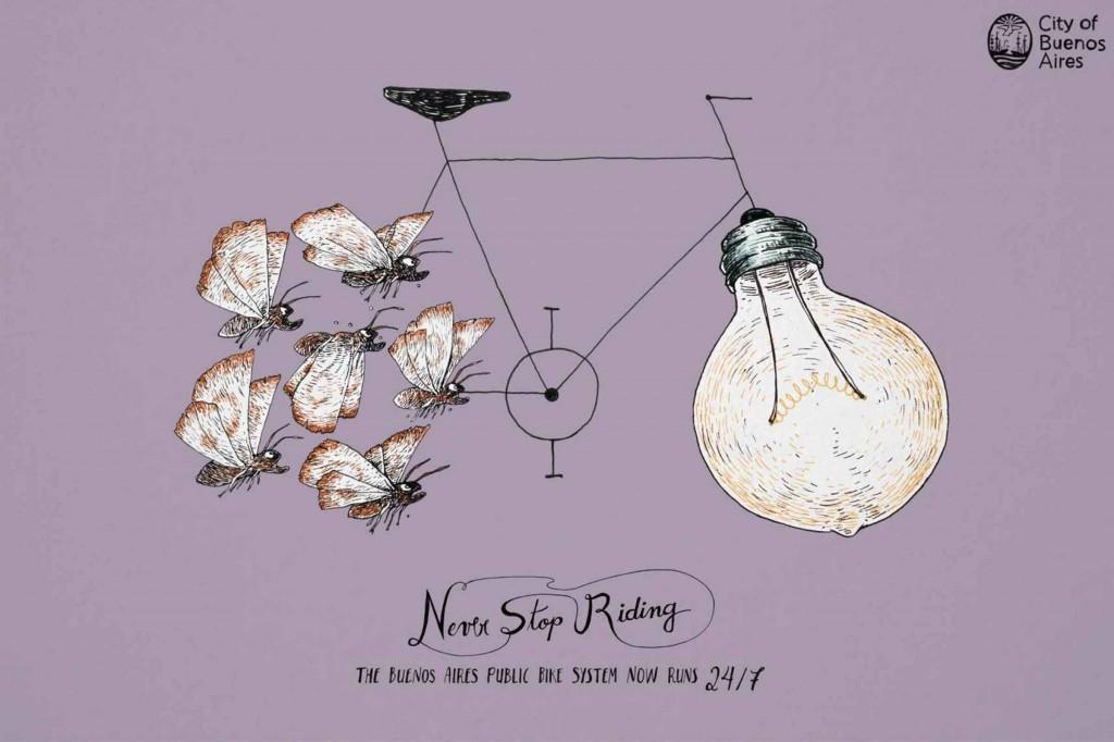کمپین اجتماعی برای سیستم عمومی دوچرخهسواری در شهر بوینسآیرس برندهی جایزهی گرندپریکس در بخش مطبوعات شد.