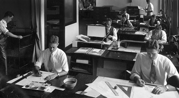 بخش هنر و خلاقیت آژانس JWT در سال 1930