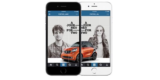 کمپین تبلیغاتی خودروهای Smart، داستانی دو نفره در اینستاگرام