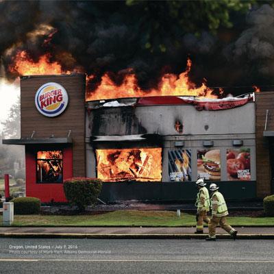 «مغازههای در حال سوختن» برگر کینگ برنده جایزه بزرگ کن